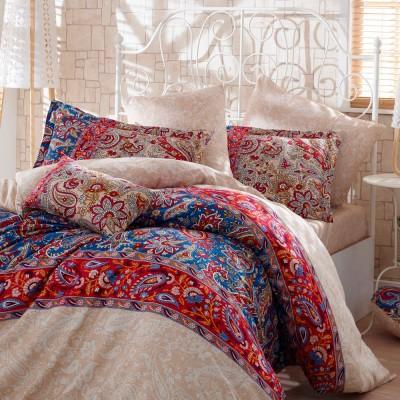Комплект постельного белья сатин «Caterina» евростандарт | красный | Hobby