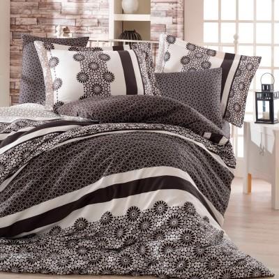 Комплект постельного белья сатин «Lisa» черный Hobby