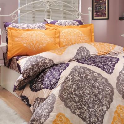 Комплект постельного белья поплин «Amanda» фиолетовый Hobby