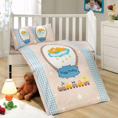 Детский комплект постельного белья поплин «Bambam» голуб Hobby