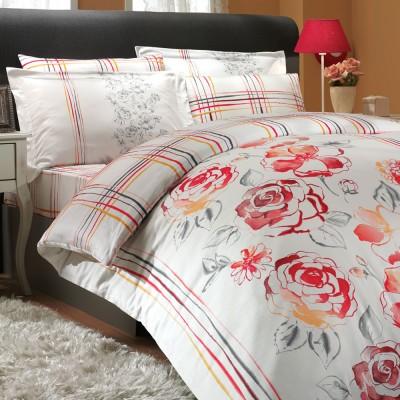 Комплект постельного белья сатин «Arabella» красный Hobby