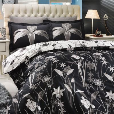 Комплект постельного белья поплин «Clarinda» черный Hobby