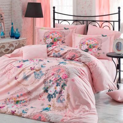 Комплект постельного белья поплин «Serefina» персик Hobby