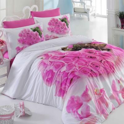 Комплект постельного белья поплин «Love Story» Hobby