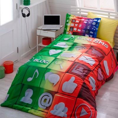 Комплект постельного белья поплин «Tweet» Hobby