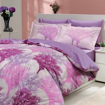 Комплект постельного белья поплин «Juillet» фуксия Hobby