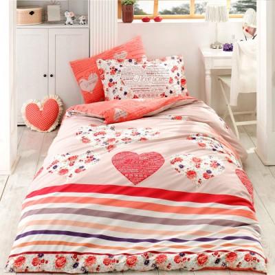 Комплект постельного белья поплин «Bella» красный Hobby