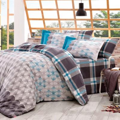 Комплект постельного белья поплин «Belen» серый Hobby