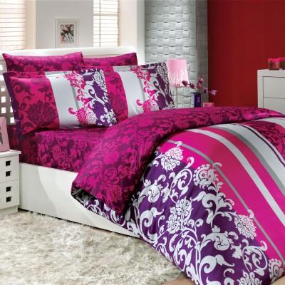 Комплект постельного белья сатин «Oriental» фуксия Hobby