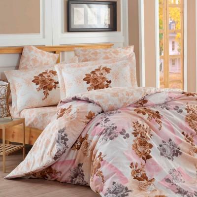 Комплект постельного белья поплин «Elvira» розовый Hobby