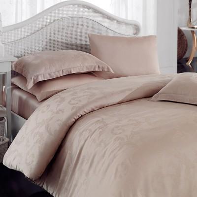 Комплект постельного белья bamboo сатин «Diamond Flower» беж Hobby