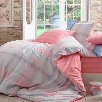 Комплект постельного белья поплин «Carmela» розовый Hobby