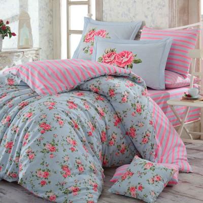 Комплект постельного белья поплин «Flora» Hobby
