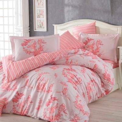 Комплект постельного белья поплин «Vanessa» розовый Hobby