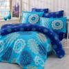 Комплект постельного белья сатин «Ottoman» евростандарт | голуб Hobby