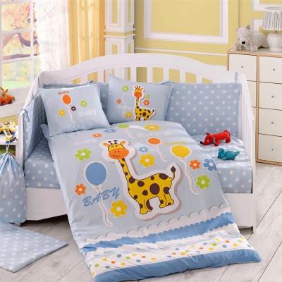 Детский комплект постельного белья поплин «Puffy» голуб Hobby