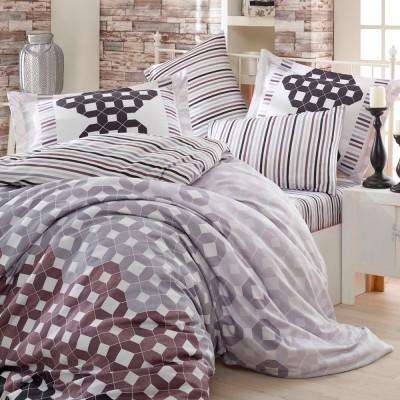 Комплект постельного белья сатин «Marsella» серый Hobby