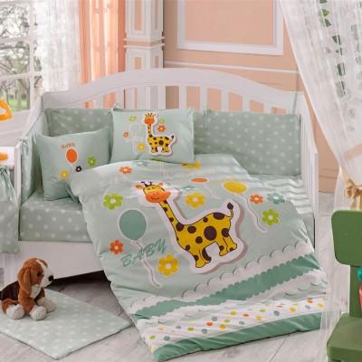 Детский комплект постельного белья поплин «Puffy» салатовый Hobby