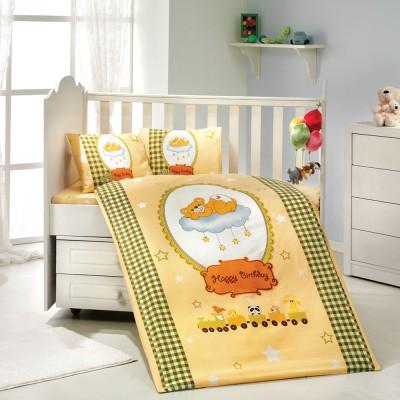Детский комплект постельного белья поплин «Bambam» желтый Hobby