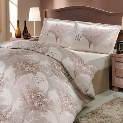 Комплект постельного белья поплин «Juillet» кремовый Hobby