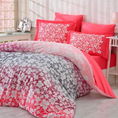 Комплект постельного белья поплин «Mira» розовый Hobby