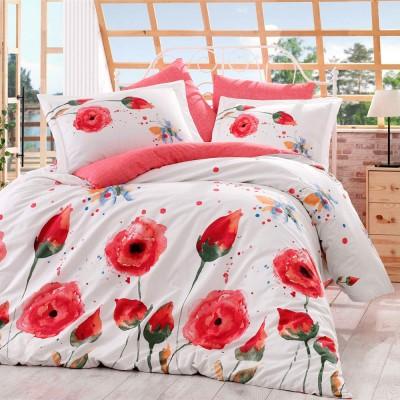 Комплект постельного белья поплин «Veronika» красный Hobby