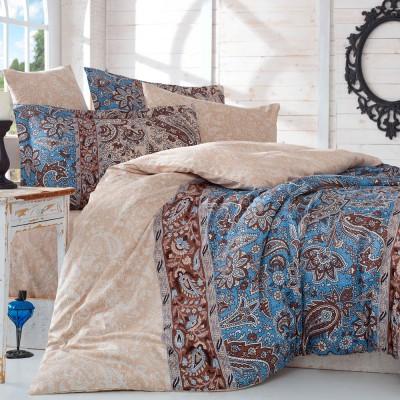 Комплект постельного белья сатин «Caterina» евростандарт | беж | Hobby