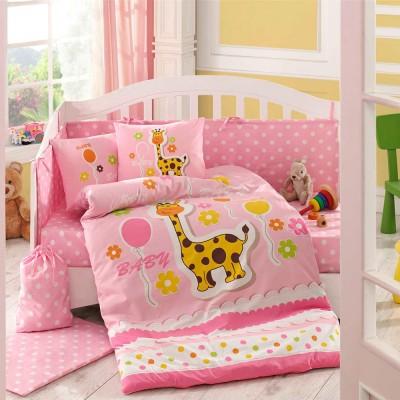 Детский комплект постельного белья поплин «Puffy» розовый Hobby