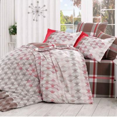 Комплект постельного белья поплин «Belen» корич Hobby