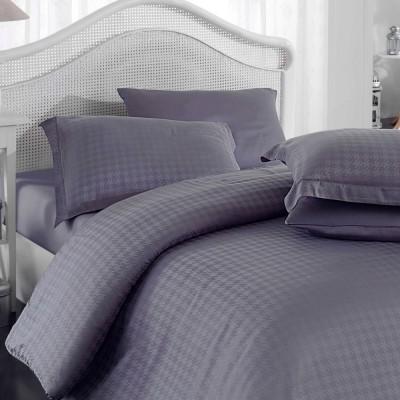 Комплект постельного белья bamboo сатин «Diamond Houdstooth» серый Hobby