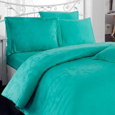 Комплект постельного белья bamboo сатин «Diamond Flower» мята Hobby