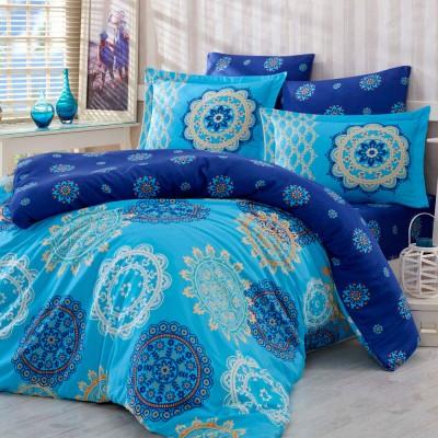 Комплект постельного белья сатин «Ottoman» семейный | голуб | Hobby