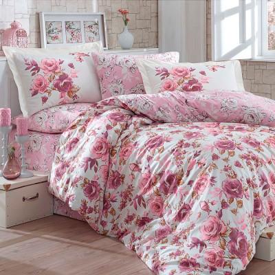 Комплект постельного белья поплин «Alessia» темн-розовый Hobby