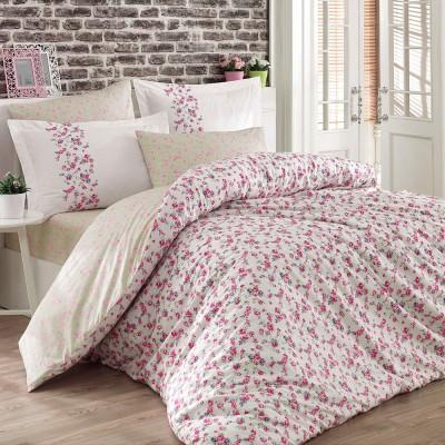 Комплект постельного белья поплин «Luisa» крем Hobby
