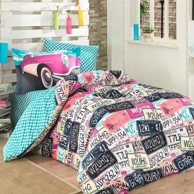 Комплект постельного белья поплин «Classica» розовый Hobby