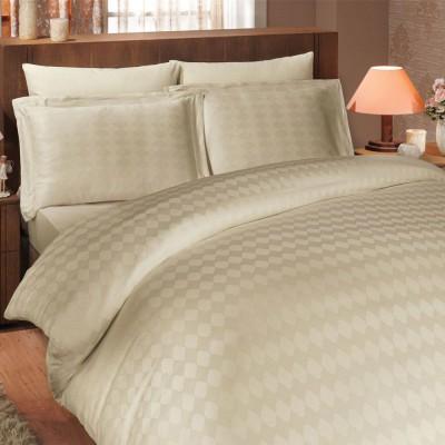 Комплект постельного белья сатин-жаккард «Diamond Bulut» крем Hobby