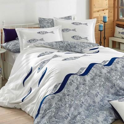 Комплект постельного белья поплин «Blues» полуторный | Hobby