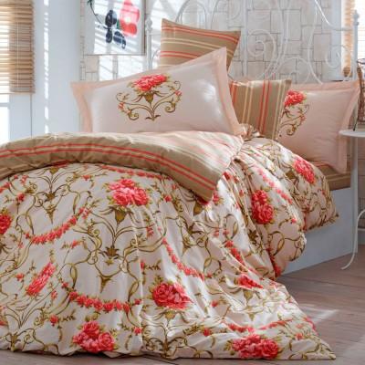 Комплект постельного белья поплин «Ornella» семейный | золото | Hobby