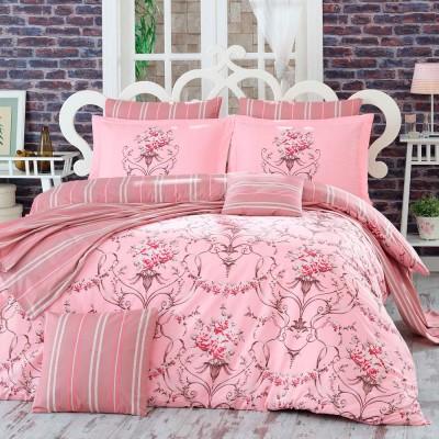 Комплект постельного белья поплин «Ornella» семейный | розовый | Hobby