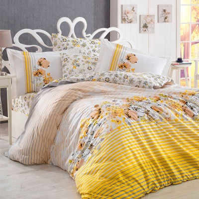 Комплект постельного белья поплин «Fiesta» евростандарт | желтый Hobby