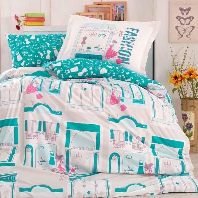Комплект постельного белья поплин «Sonia» берюза Hobby