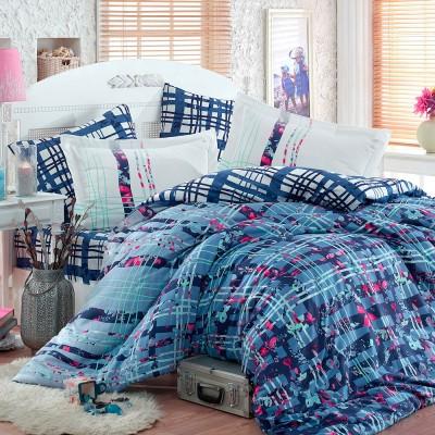 Комплект постельного белья сатин «Lorenza» голуб Hobby