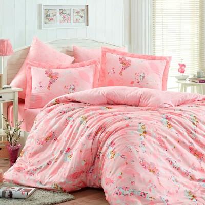 Комплект постельного белья сатин «Mystery» персик Hobby