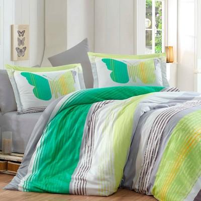 Комплект постельного белья сатин «Nicoletta» зеленый Hobby