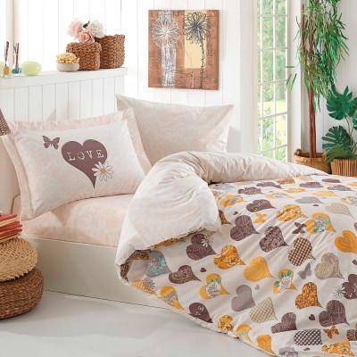 Комплект постельного белья поплин «Vera» желтый Hobby