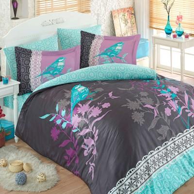 Комплект постельного белья сатин «Emilia» серый Hobby
