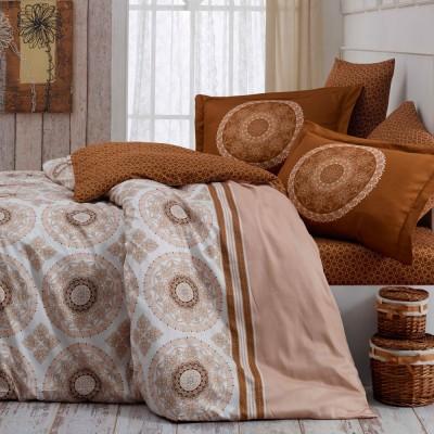 Комплект постельного белья сатин «Silvana» семейный | беж | Hobby