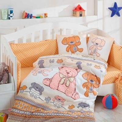 Детский комплект постельного белья поплин «Tombik» желтый Hobby