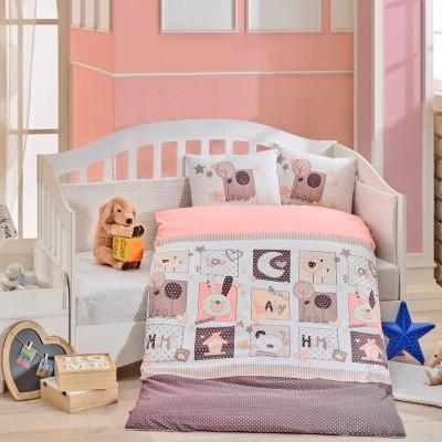 Детский комплект постельного белья поплин «Sweet Home» розовый Hobby