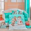 Детский комплект постельного белья поплин «Snowball» мятный Hobby